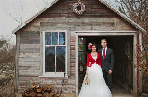 Winter Cabin Wedding winter wedding ideas in the snow green wedding
