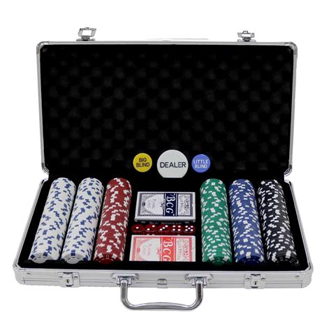 poker set  piece complete  casino style case