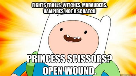 Crab Scissors Meme - fights trolls witches marauders vires not a scratch