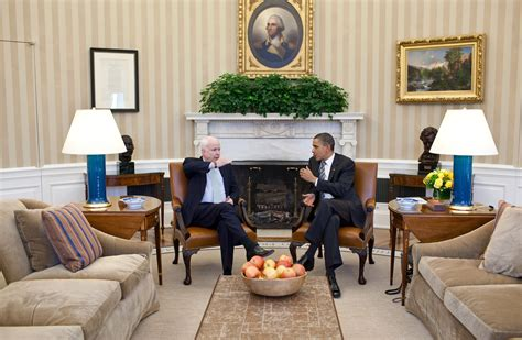 The Oval Office Suite by File President Barack Obama Meets With Sen Mccain Of