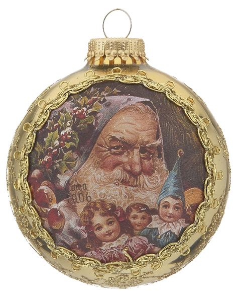 2016 santa on silk 1906 sinter claus christmas ornament