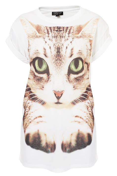 Roll Cat Motif 25 lyst topshop photo cat in white