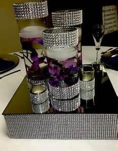Glass Pedestal Vase Bling Centerpiece Riser Cake Stand