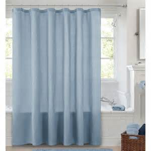 canopy waffle weave shower curtain blue crest bath