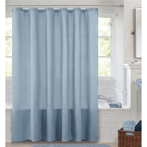 waffle weave shower curtain canopy waffle weave shower curtain blue crest bath