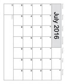 2015 Calendar Templates Free by July 2016 Calendar Printable Template 8 Templates