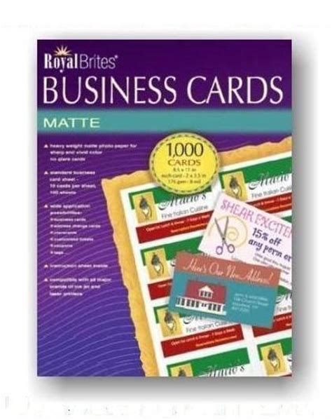 1000 images about business card blank matte business cards heavy weight 1000 in box