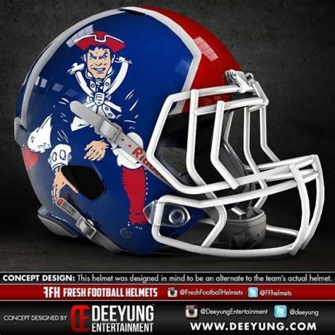 Kaos Sport Football New Patriots Alternate Logo 1 2000 2012 new patriots concept football helmet design by