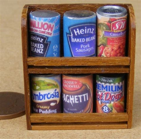 doll sts dolls house miniature tin can sets