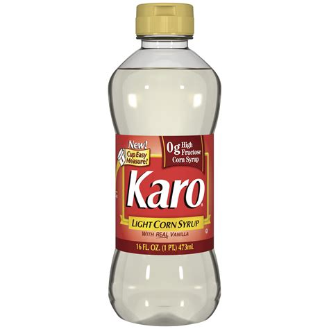 karo light wreal vanilla corn syrup  oz squeeze bottle