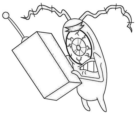 plankton coloring pages az coloring pages