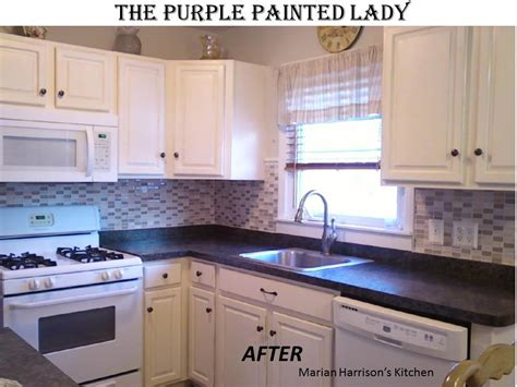 can you paint kitchen cabinets with chalk paint kitchen cabinet painting the purple painted lady