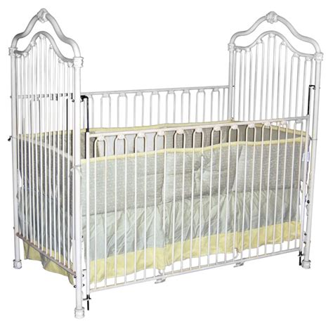 White Iron Cribs by Regal Arch Iron Crib