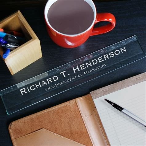 Personalized Executive Desk Ruler Engraved Desk Engraved Desk Accessories