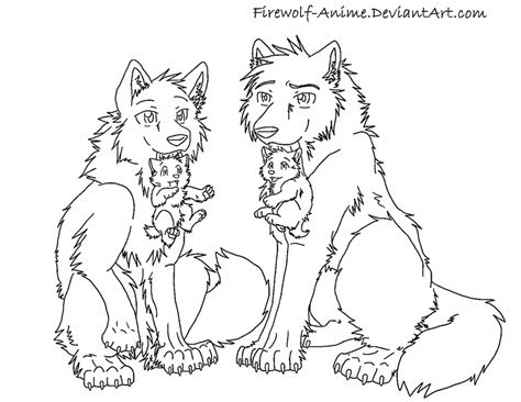anime wolves coloring pages wolves and puppies by firewolf anime on deviantart