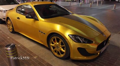 gold maserati car gold maserati sports swarovski bling in dubai autoevolution