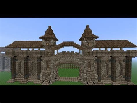 minecraft walls tutorial minecraft medieval wall tutorial how to build a wall