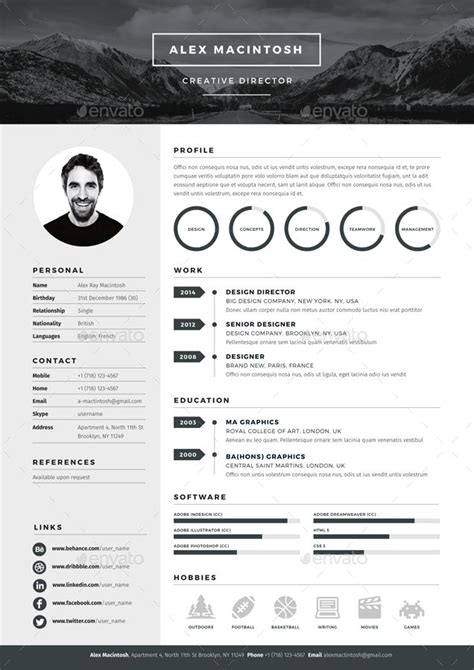 mono resume template by www ikono me 3 page templates 90