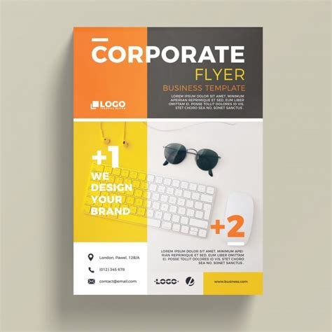 modern corporate business flyer template psd file free