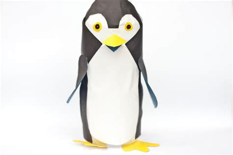 How To Make A Penguin With Paper - how to make bottle penguins 6 steps with pictures wikihow