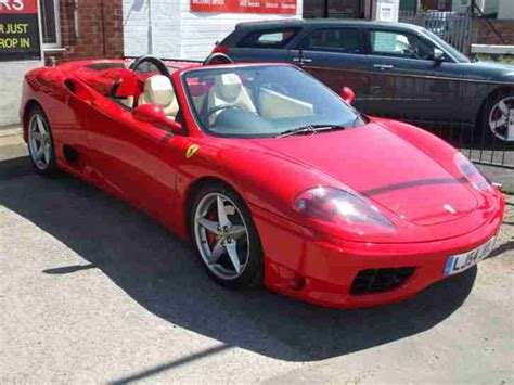 Ferrari 360 Hire by Ferrari 360 Spider To Hire For Wedding Or Prom In Red Or