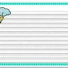 cloud writing paper writing paper lined paper weather theme