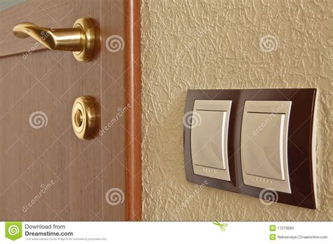interior door and light switch stock image image 17279583