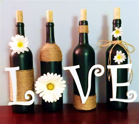 Wine Decorations For The Home Dear Paradise Diy Wine Bottle Decoration