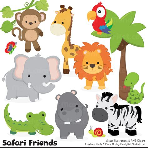safari animals clip animl clipart safari animal pencil and in color animl