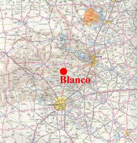blanco texas map blanco texas