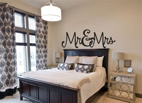 Bedroom Wall Decorations by Bedroom Wall Decal Mr Mrs