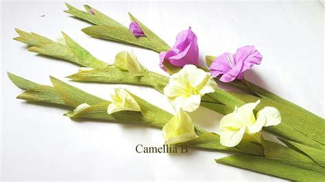 gladiolus paper flower tutorial diy paper gladiolus flower from crepe paper hoa lay ơn