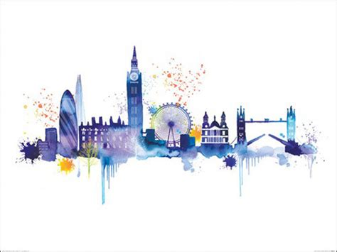 london skyline art print by summer thornton at king amp mcgaw