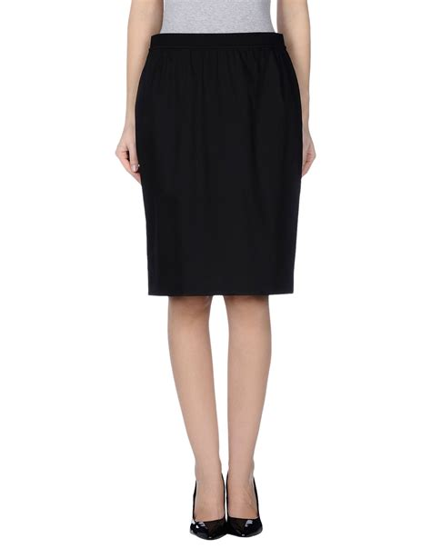 metradamo knee length skirt in black lyst