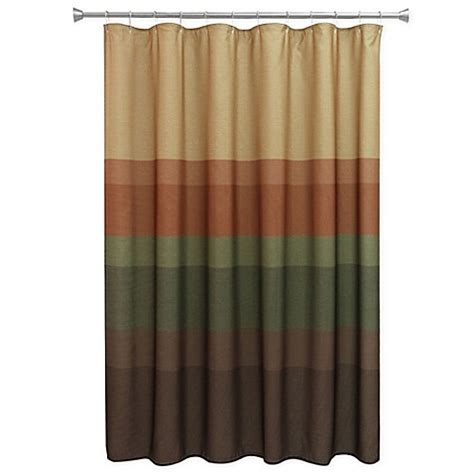 Rust Colored Curtains Designs Buy Bacova Textured Layers Spice Shower Curtain In Brown Rust From Bed Bath Beyond