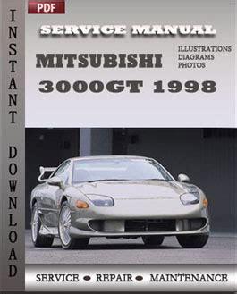 mitsubishi 3000gt 1998 service repair manual instant
