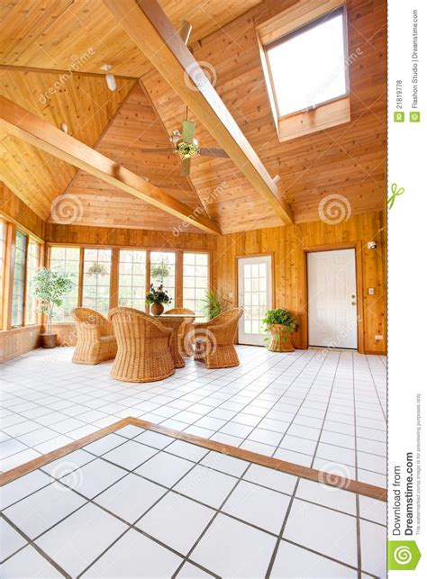 Wooden Sun Room Wooden Wall Sun Room Interior Royalty Free Stock Photos