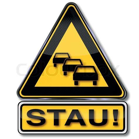 Baustellenschild Vektor Free by Verkehrsschild Achtung Autostau Stock Vektor Colourbox