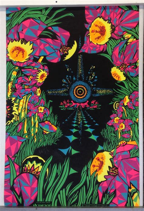 1970 black light posters psychedelic black light poster by michael rhodes 1970