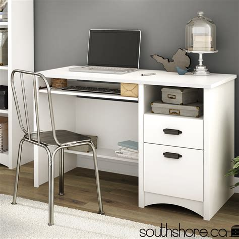 South Shore Computer Desk South Shore Gascony Computer Desk With Keyboard Tray Reviews Wayfair