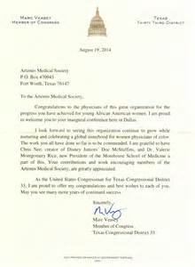 welcome letter from congressman marc veasey artemis