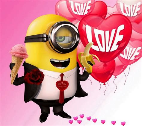 pin  kayleen diane  valentines day pictures funnies minions love minions images