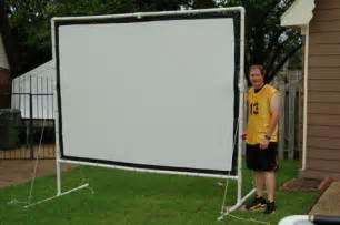 diy backyard projector screen outdoor screen crafts