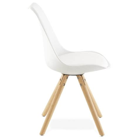 chaises style scandinave chaise moderne style scandinave nordica blanc