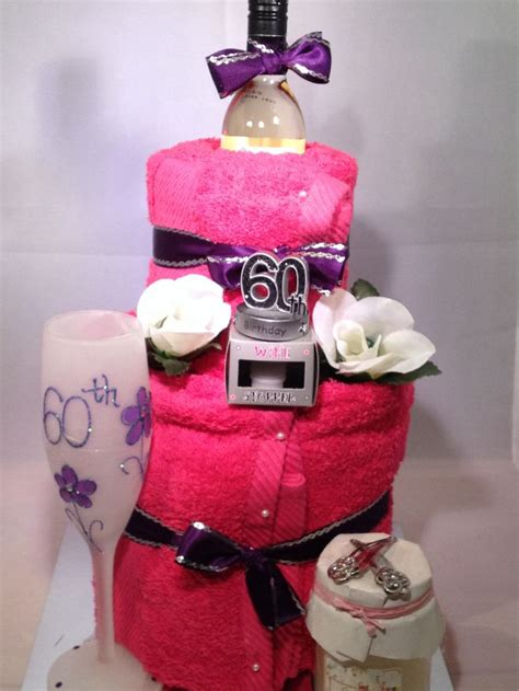 wine birthday candle great 60th birthday towel cake with a bottle of wine 60