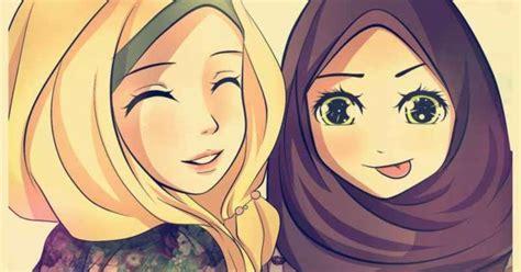 kartun persahabatan muslimah anak cemerlang