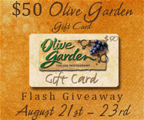 Olive Garden Giveaway - flash giveaway 50 olive garden gift card ends 8 23 the denver housewife
