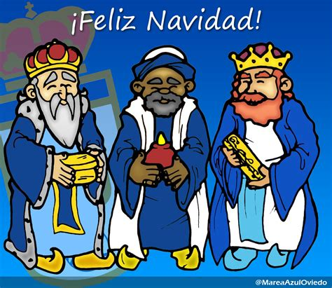 fotos reyes magos navidad marea azul real oviedo feliz navidad
