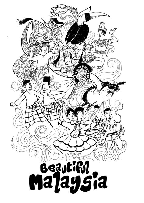 malaysian doodle artist beautiful malaysia 01 by rahimjohar on deviantart