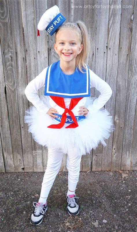 diy girly marshmallow man costume marshmallow man